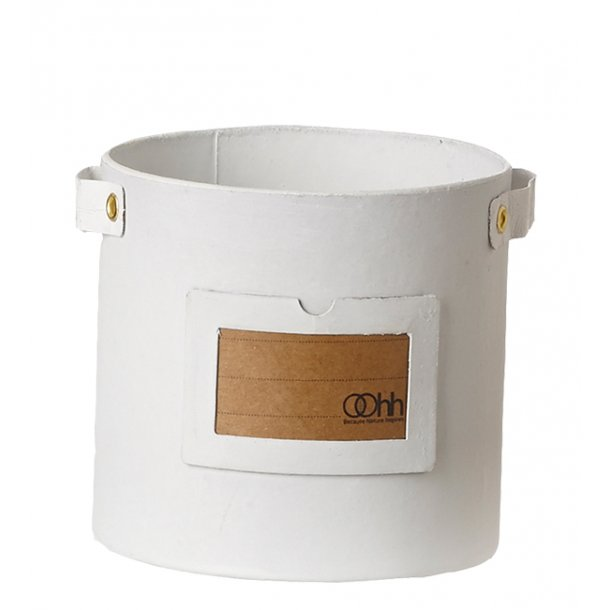 Cylinder Note Pot, White