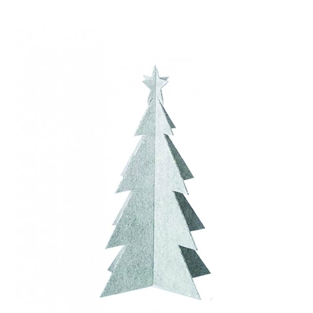 Felt Xmas Tree, White