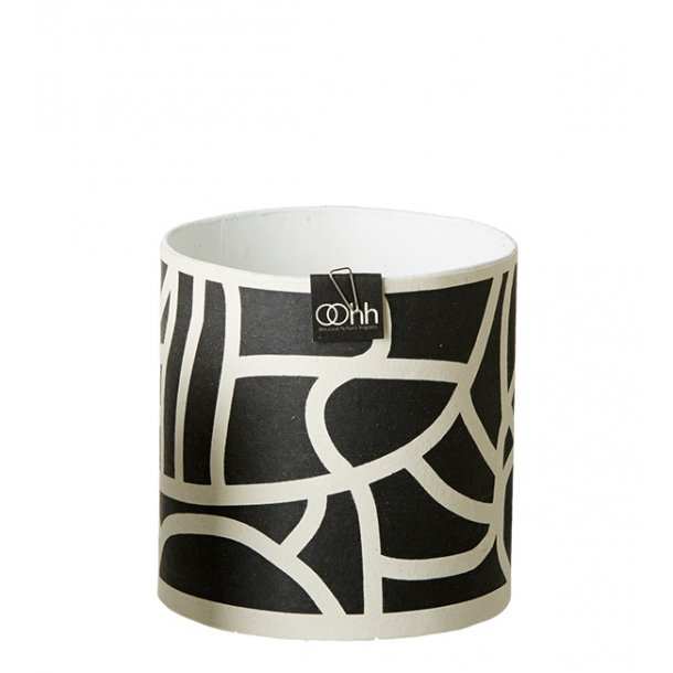 Graphic Lines Pot, Black/White