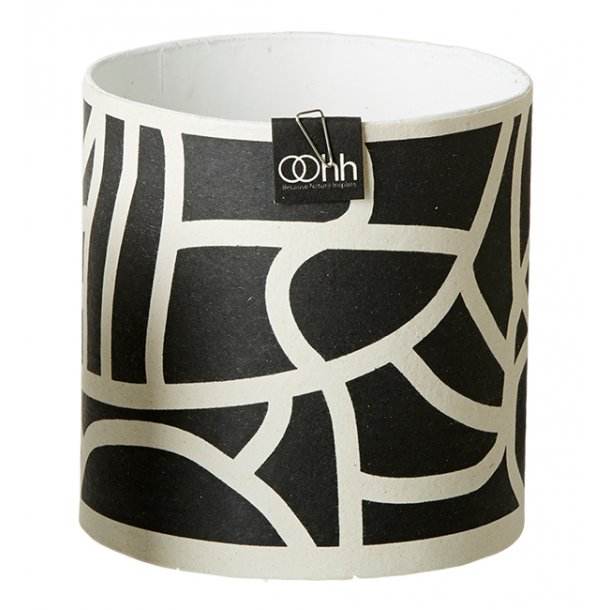 Graphic Lines Pot, Black/White