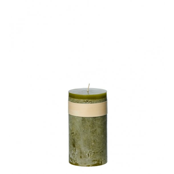 Timber Candle, Moss Green