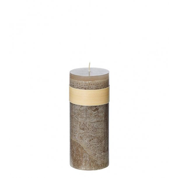 Timber Candle, Taupe
